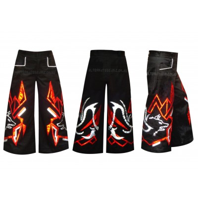 Alpha wolf red  with -free matching suspenders