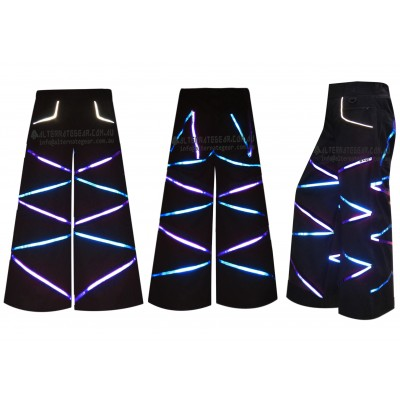 ...Electro blue and purple phat pants