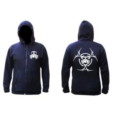 .Alternategear gas mask hoodie black with personalised sleeve