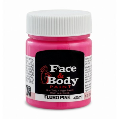 .Face & body paint fluro pink 40ml