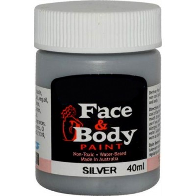 Face & Body paint silver 40ml