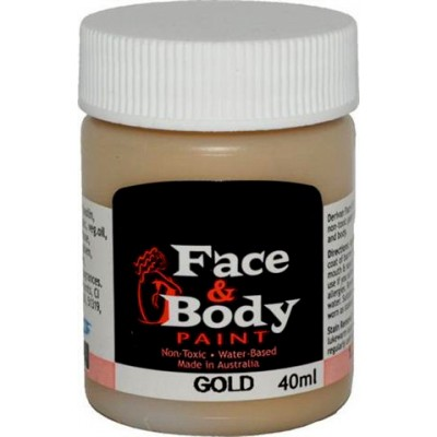 Face & Body paint gold 40ml