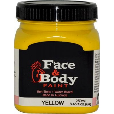 .Face & body paint yellow 250ml