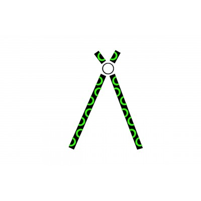Cyber pants green with free matching suspenders