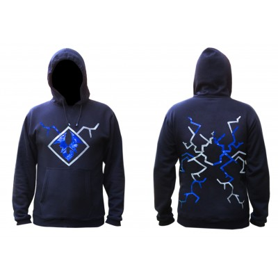 Lightning strike blue and white hoodie