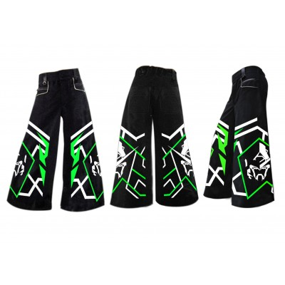 .Tran-zam green- phat pants with free matching suspenders