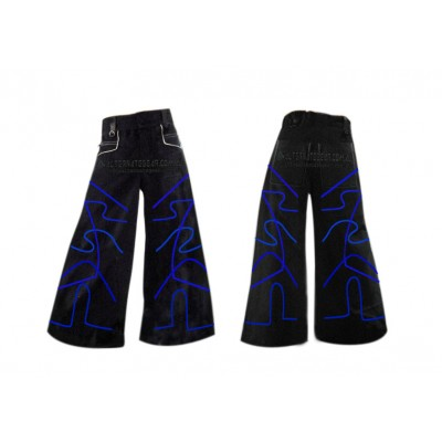 Phat pants Magnitude  blue  with free  suspenders