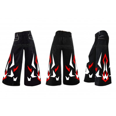 Linear - phat pants with free matching suspenders