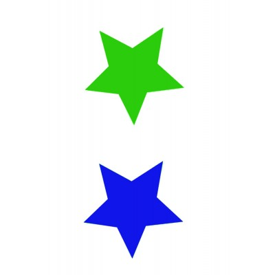 Sew on patterns - 2 stars - pick from 8 colours