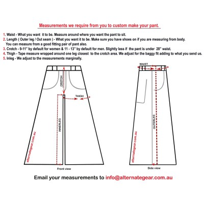 .KIDS PHAT PANT, DELIVERY  & TEMPLATE DEMONSTRATING MEASUREMENTS WE REQUIRE -  NOT FOR PURCHASE
