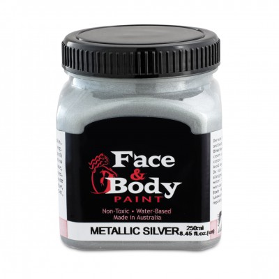 .Face & body paint silver 250ml