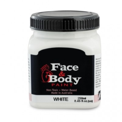 .Face & body paint white 250ml