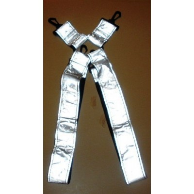 Suspender wide white/clear