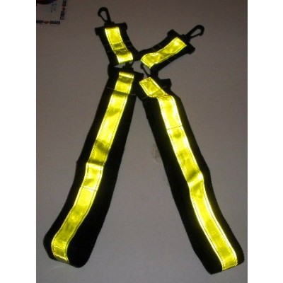 Suspenders yellow on black webbing