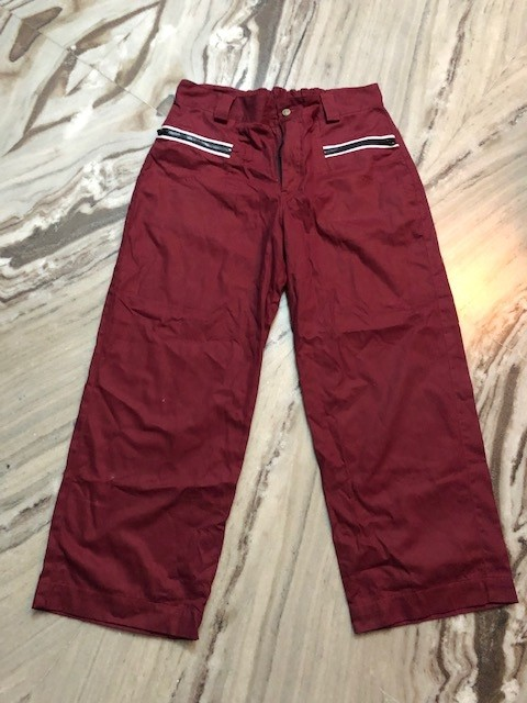 Maroon phat pants waist 34-36 inches length 40