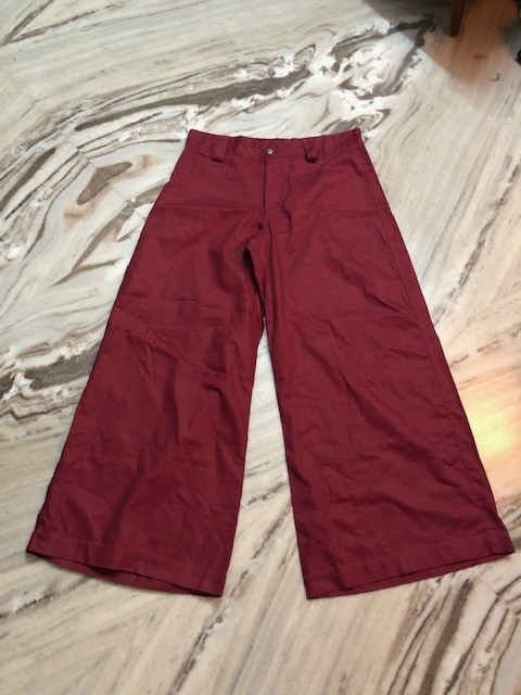 Maroon phat pants no pockets waist 36 inches length 41 inches