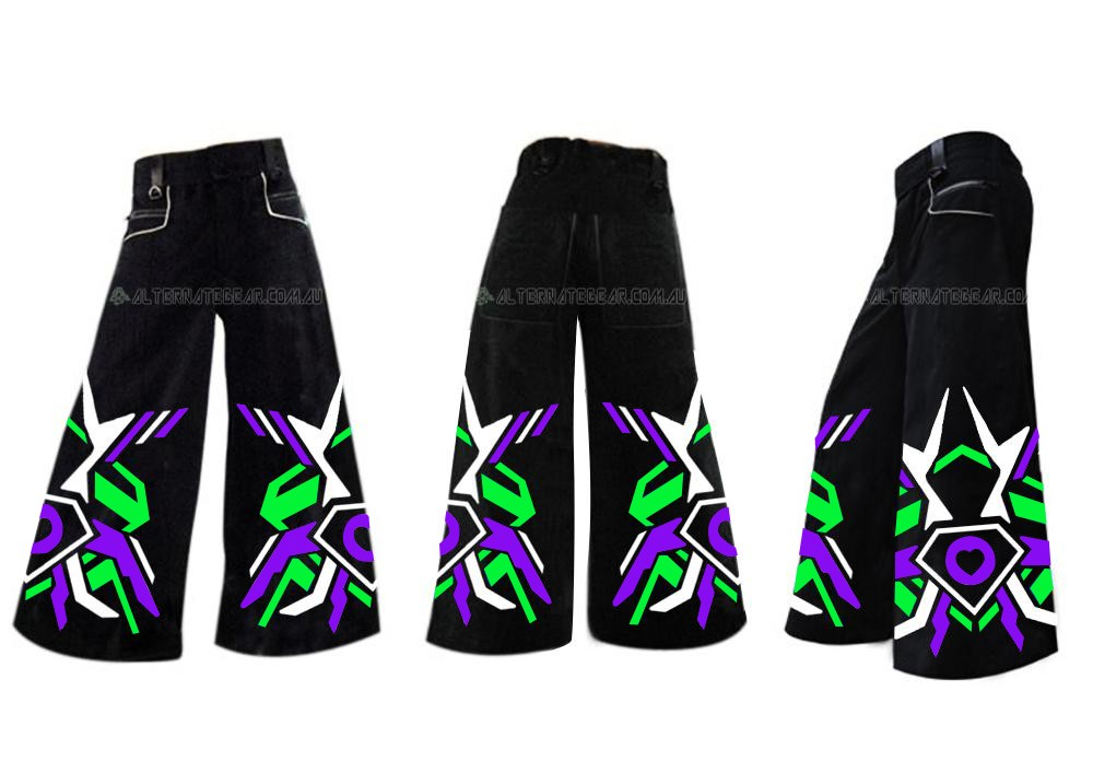 ...ASOT -  phat pants green purple and white