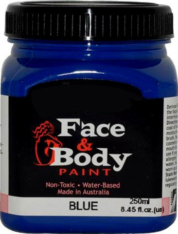 .Face & body paint blue 250ml