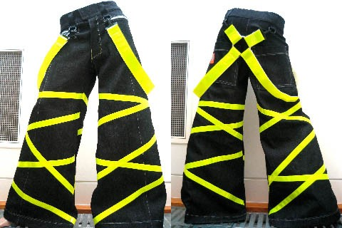 Phat pant Crisscross yellow with free suspenders