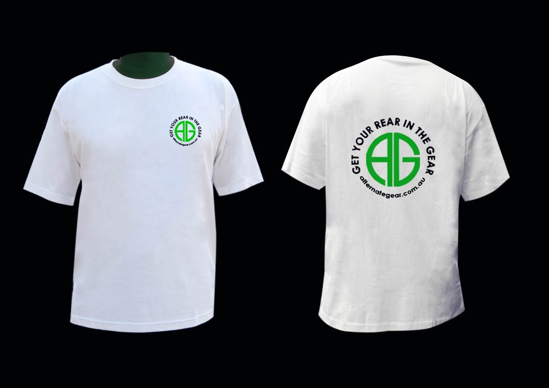 T shirt - AG logo white