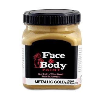 .Face & body paint gold 250ml
