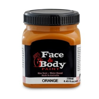 .Face & body paint metallic orange 250ml