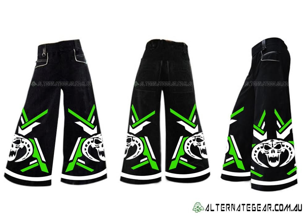 ..MOH -green and white  phat pants